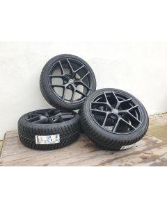 Komplettradsatz Winter Borbet Y Black Matt 8x18 et48 5x112 + BRIDGESTONE LM-005 225/40 R18 92 V XL - C, A, B, 72dB