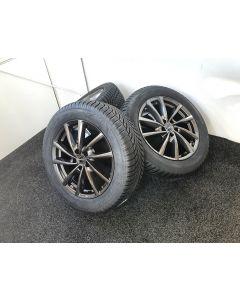 Winterräder 18Zoll für Seat Tarraco VW Tiguan Skoda Kodiaq + BORBET V Mistral Anthracite Glossy + BRIDGESTONE LM-005 235/55 R18 104H