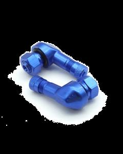 2x Motorrad Alu Winkelventil Blau 8,3mm Ventile Eckventil Ventil