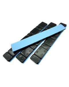 240g Auswuchtgewichte Schwarz 4x60g Riegel 5g+10g Aufteilung mit Abrisskante