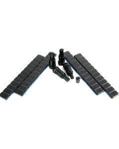 4x 11,3mm Aluminium Ventil Metall-Ventil Schwarz +240g Auswucht Gewichte