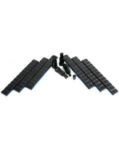 4x 11,3mm Aluminium Ventil Metall-Ventil Schwarz +360g Auswucht Gewichte