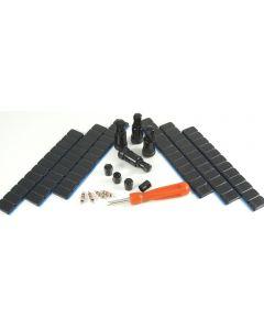 4x 11,3mm Alu Ventil +360g +4x Einsätze +1x Ausdreher 4x Kappen