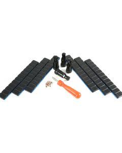 4x 11,3mm Alu +360g Gewichte 4x  einsätze 1x Eindreher