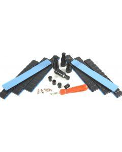 4x 11,3mm Alu Ventil +480g +4x Einsätze +1x Ausdreher 4x Kappen