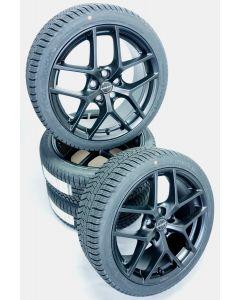 Komplettradsatz Winter Borbet Y Black Matt 8x18 et48 5x112 + HANKOOK W320 225/40 R18 92 V XL - D, C, 2, 72dB