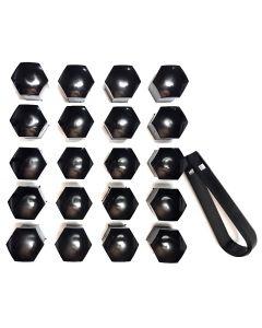 20x Kappen in Schwarz