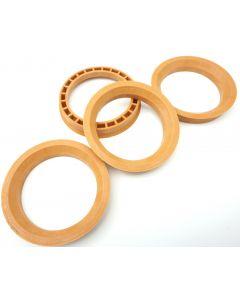 RONAL 4x Zentrierringe 76,0-60,1 / 76 auf 60,1 Orange