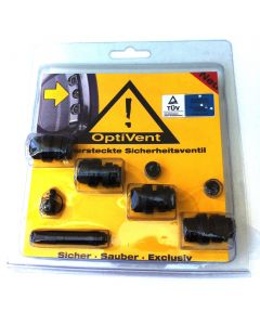 OptiVent - das versteckte Sicherheits-Ventil 11,3mm Schwarz
